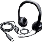 Logitech H390 Wired Headset, Stereo Headphones with Noise-Cancelling Microphone, USB, In-Line Controls,