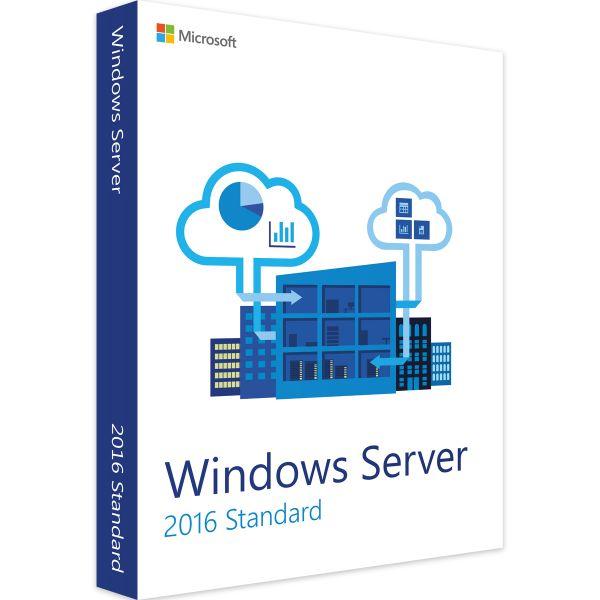 Original Microsoft Windows Server Standard 2016, 64-Bit #P73-07113/P73-07134