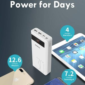 ROMOSS Sense 8P+ 30000mAh Type-C PD Portable Charger, 18W Fast Charge Power Bank with Power Delivery Input, Max 3A Output, Compatible with iPhone, iPad, Samsung, Nexus, Nintendo Switch and More